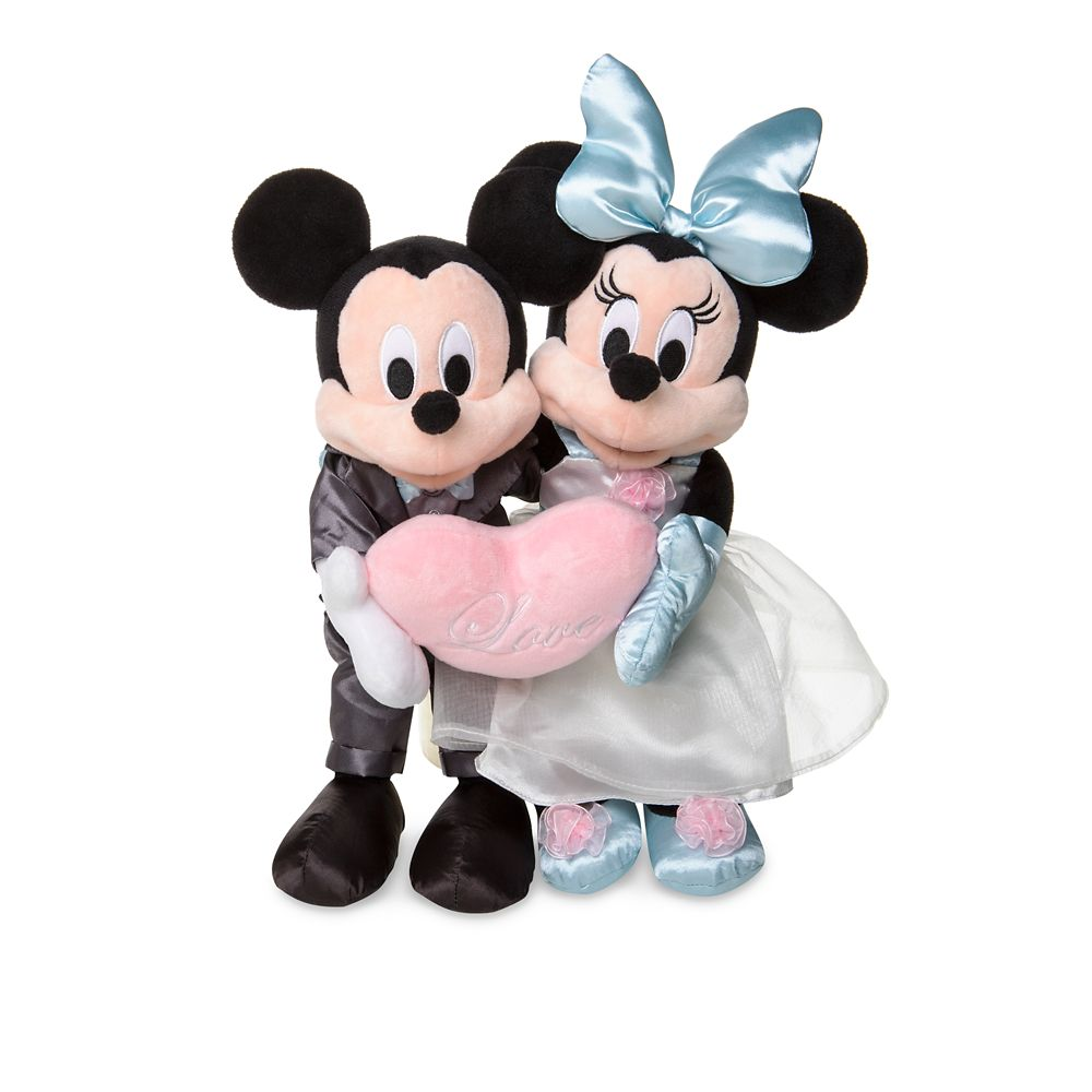 Mickey and Minnie Mouse Wedding Plush Set  Small  12'' Official shopDisney
