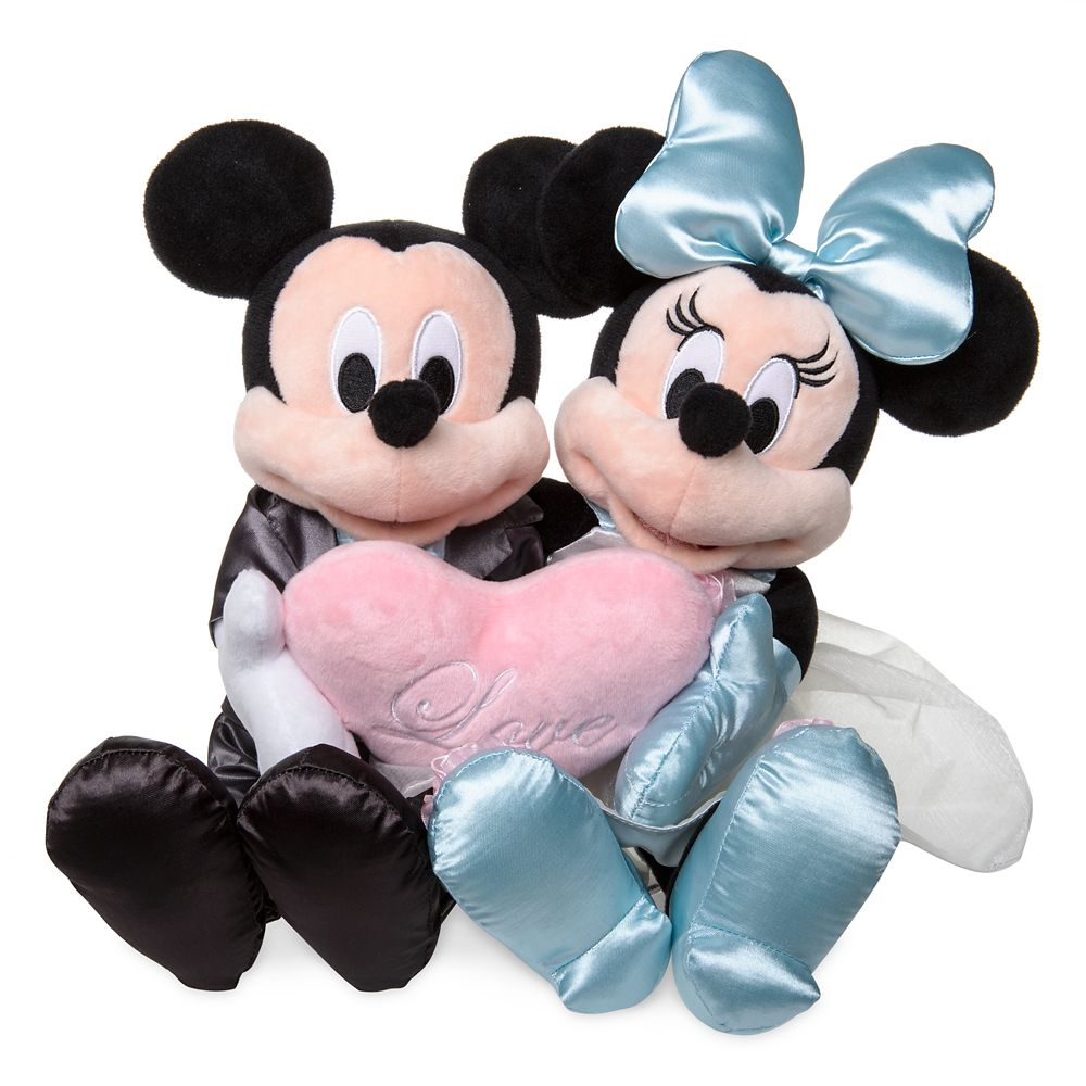 Mickey and Minnie Mouse Wedding Plush Set – Small – 12''