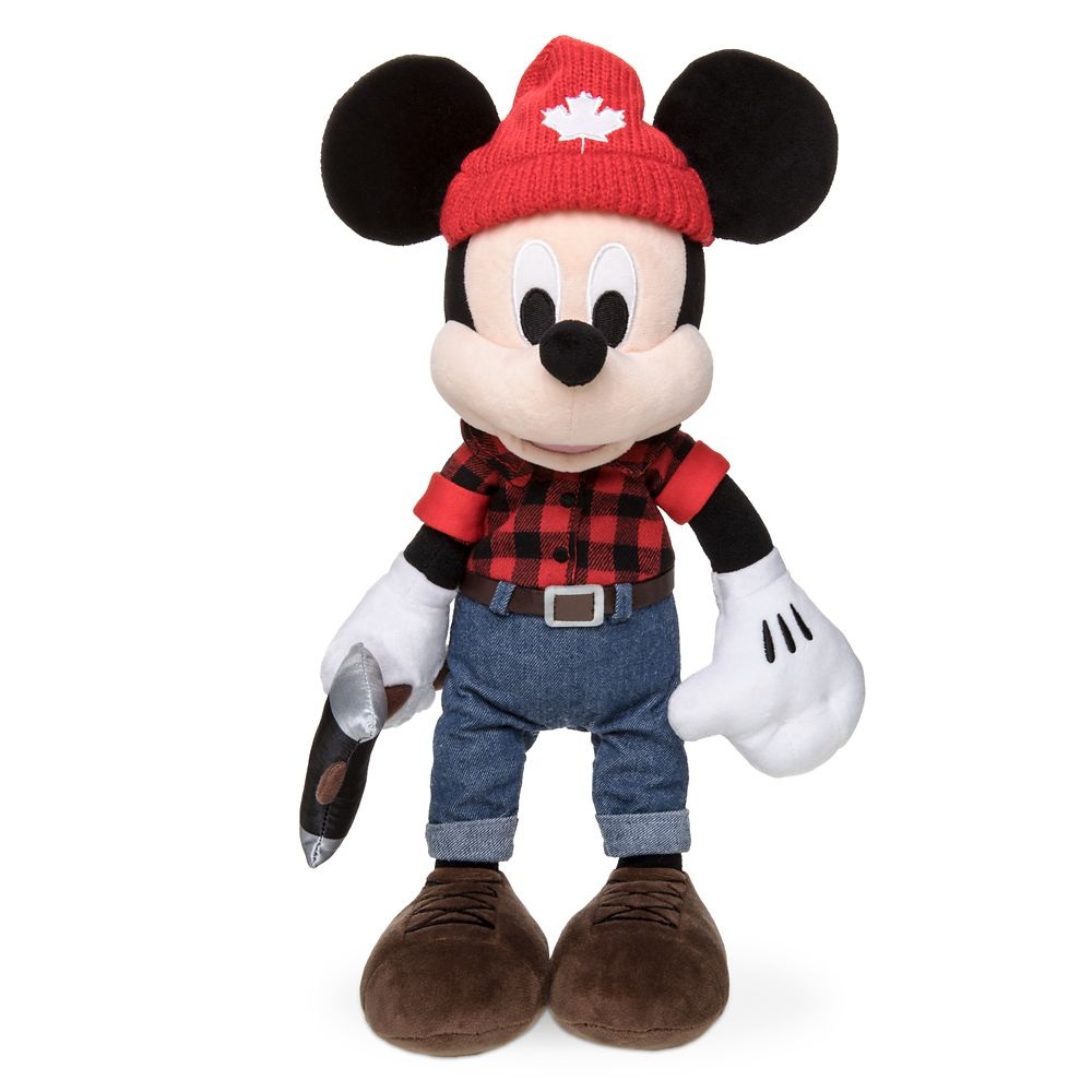 Lumberjack Mickey Mouse Plush – Canada – World Showcase – Small – 13''