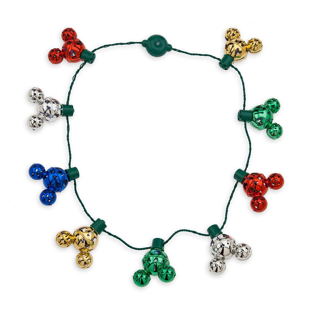 Mickey Mouse Icon Jingle Bell Light-Up Necklace