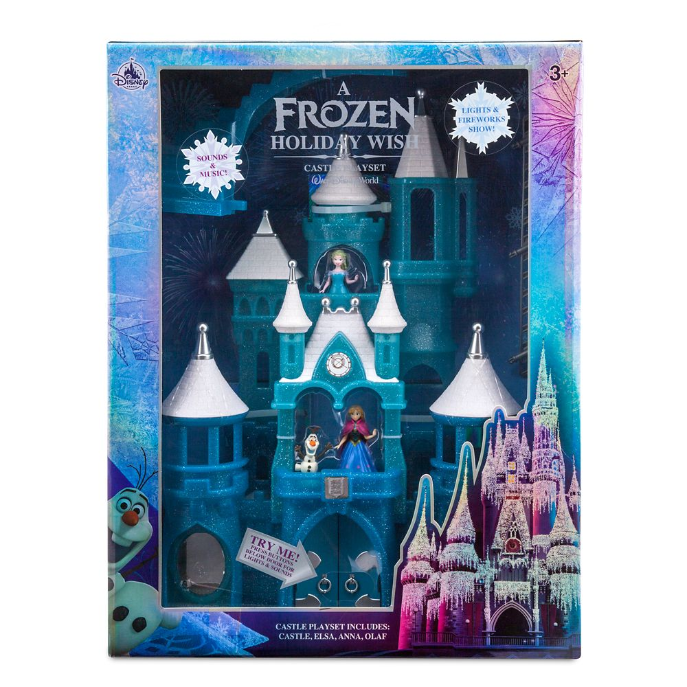 Frozen Holiday Wish Walt Disney World Castle Play Set