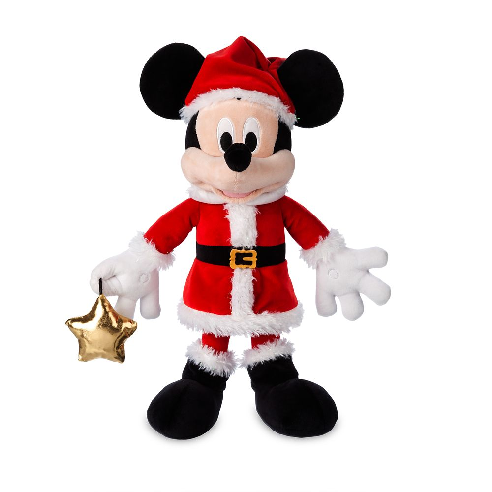 Santa Mickey Mouse Plush – Medium – 17''