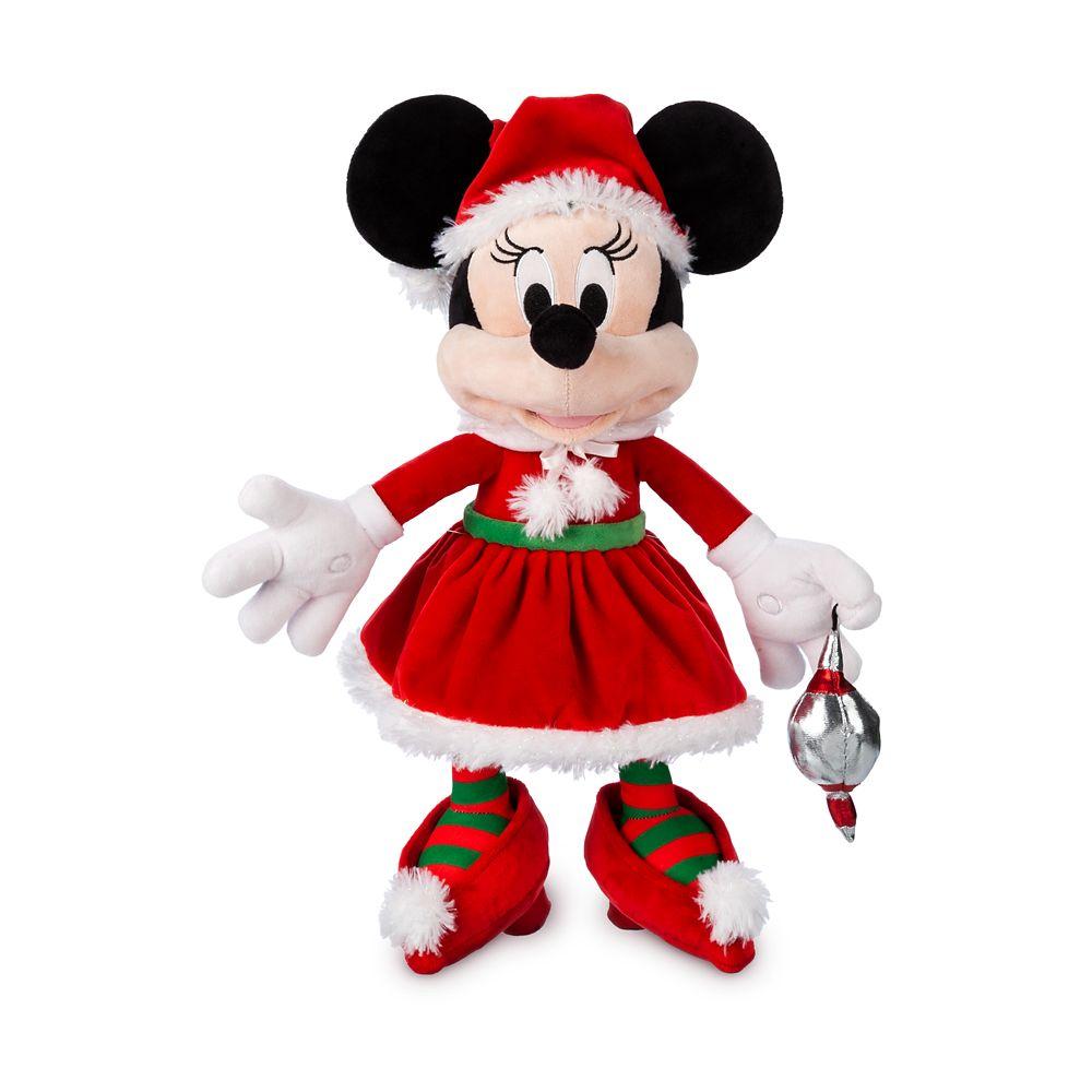 Santa Minnie Mouse Plush – Medium – 17''