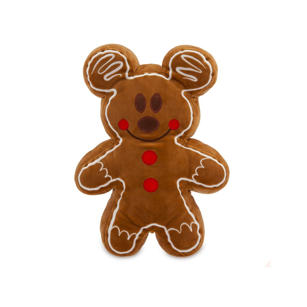 Mickey Mouse Gingerbread Cookie Plush – Scented – Small – 12''