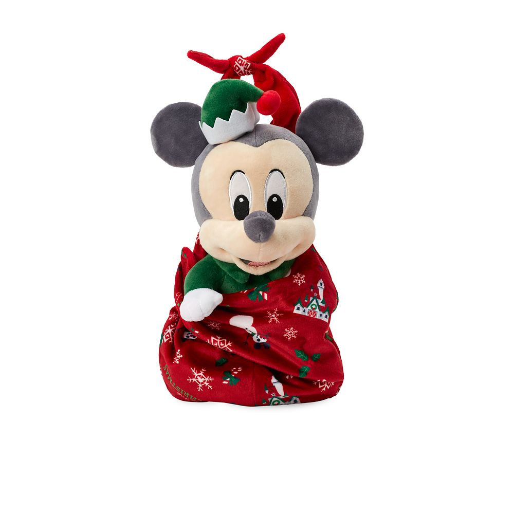 Disney Babies Mickey Mouse Holiday Plush Doll in Pouch – Small – 12''