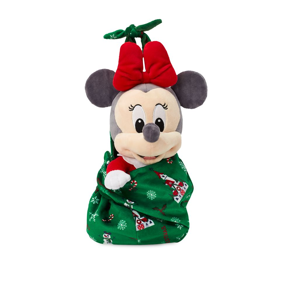 Disney Babies Minnie Mouse Holiday Plush Doll in Pouch – Small – 12''