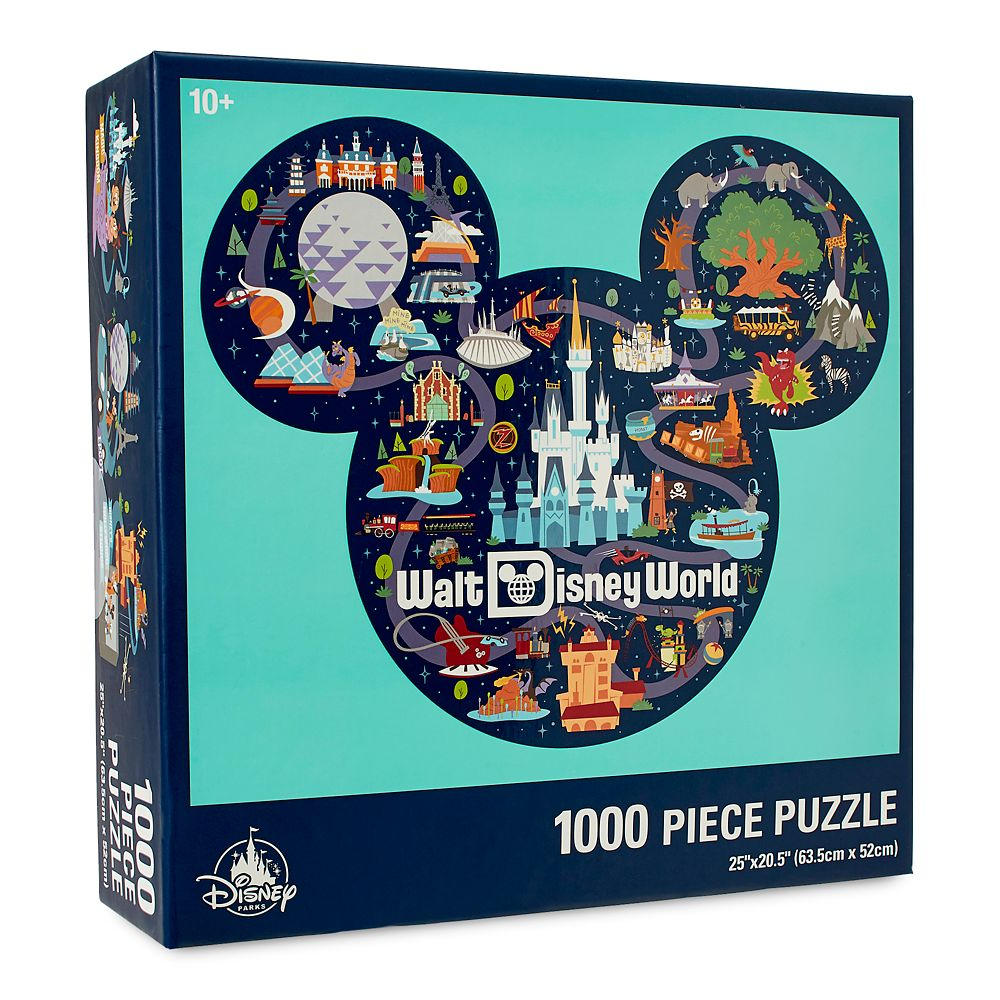 Mickey Mouse Icon Walt Disney World Map Puzzle