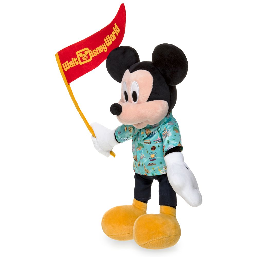 Mickey Mouse Park Life Plush – Walt Disney World – Small – 12''