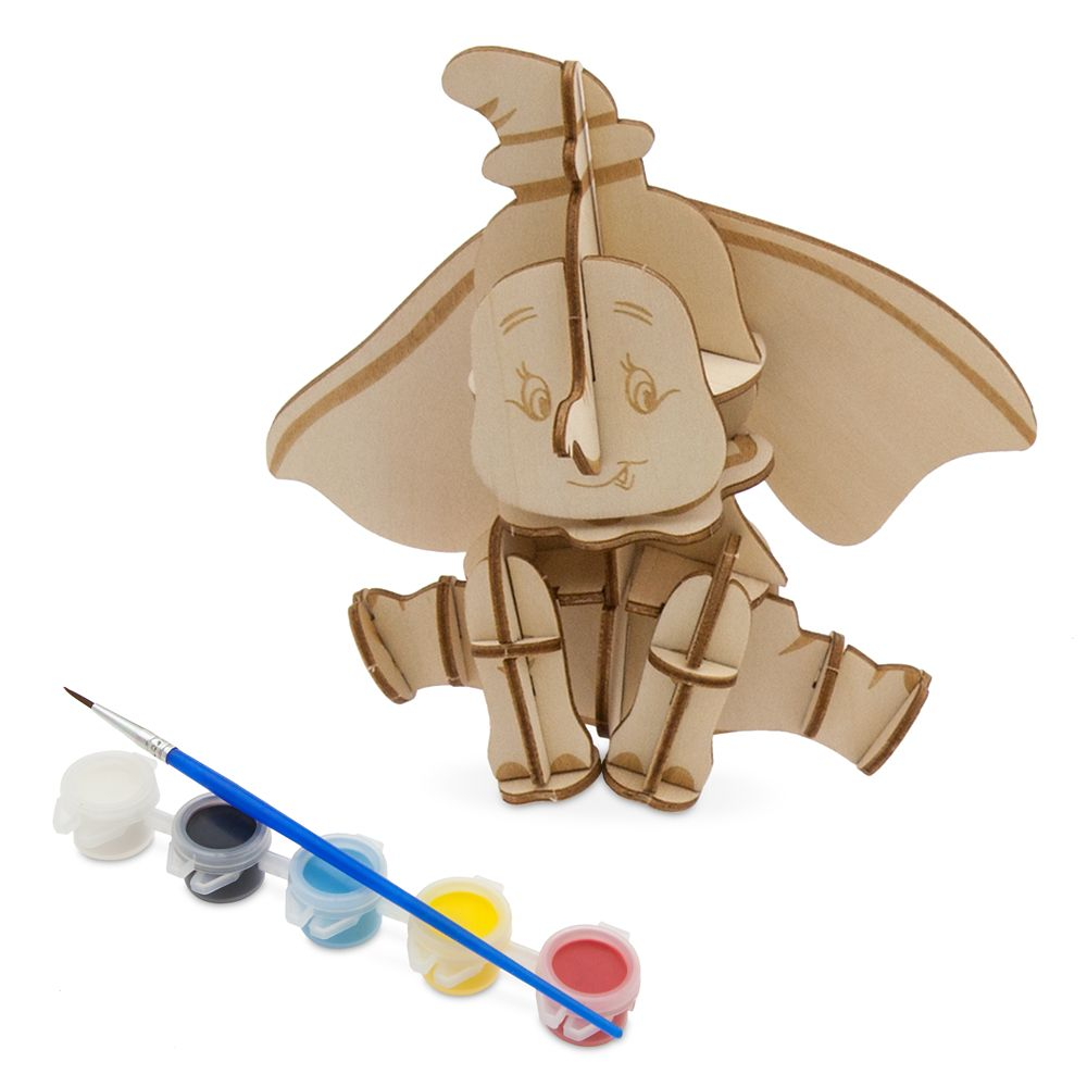 Dumbo 3D Wood Model and Paint Set – Disney Ink & Paint