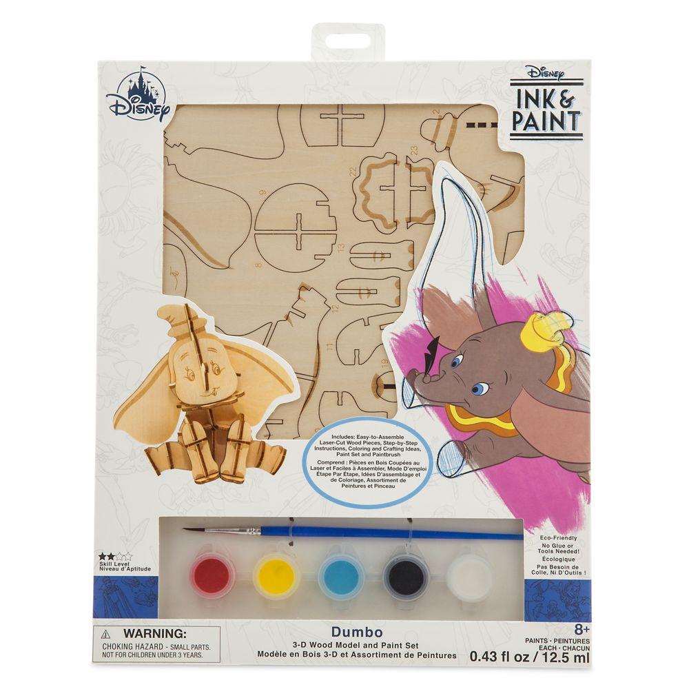 Dumbo 3D Wood Model and Paint Set – Disney Ink & Paint