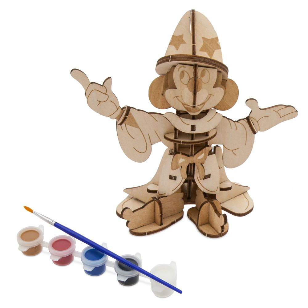 Sorcerer Mickey Mouse 3D Wood Model and Paint Set  Disney Ink & Paint