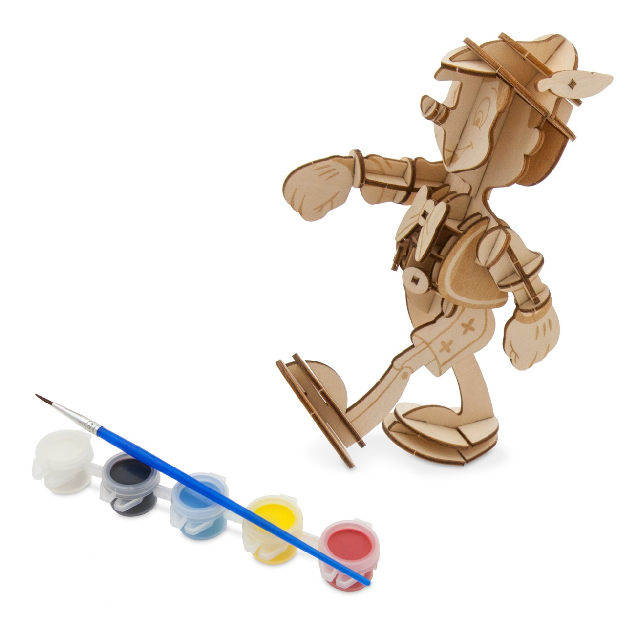 Pinocchio 3D Wood Model and Paint Set