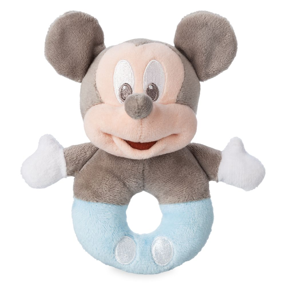 Mickey Mouse Plush Rattle for Baby – Blue