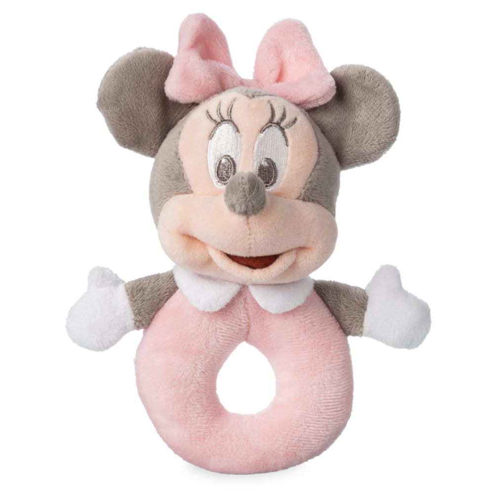 Minnie Mouse Plush Rattle for Baby – Pink