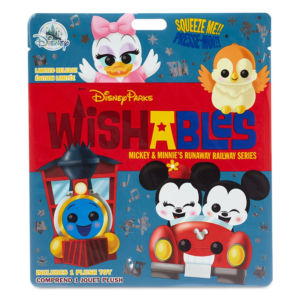 Disney Parks Wishables Mystery Plush – Mickey & Minnie's Runaway Railway Series – Micro – Limited Release