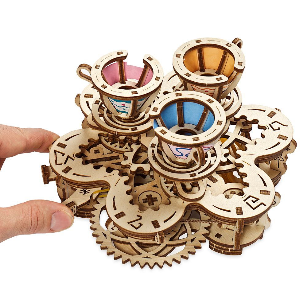 Disney Parks Mad Tea Party Attraction Wooden Puzzle by UGears