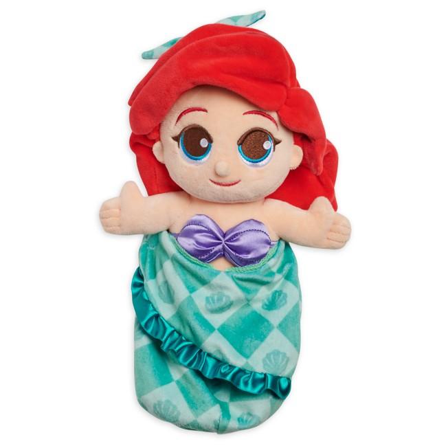 Disney Babies Ariel Plush Doll in Pouch – The Little Mermaid – Small – 12''