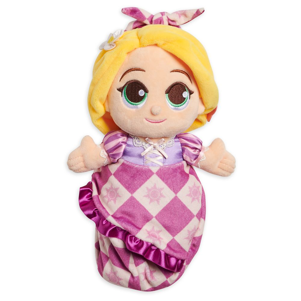 Disney Babies Rapunzel Plush Doll in Pouch – Tangled – Small – 11''