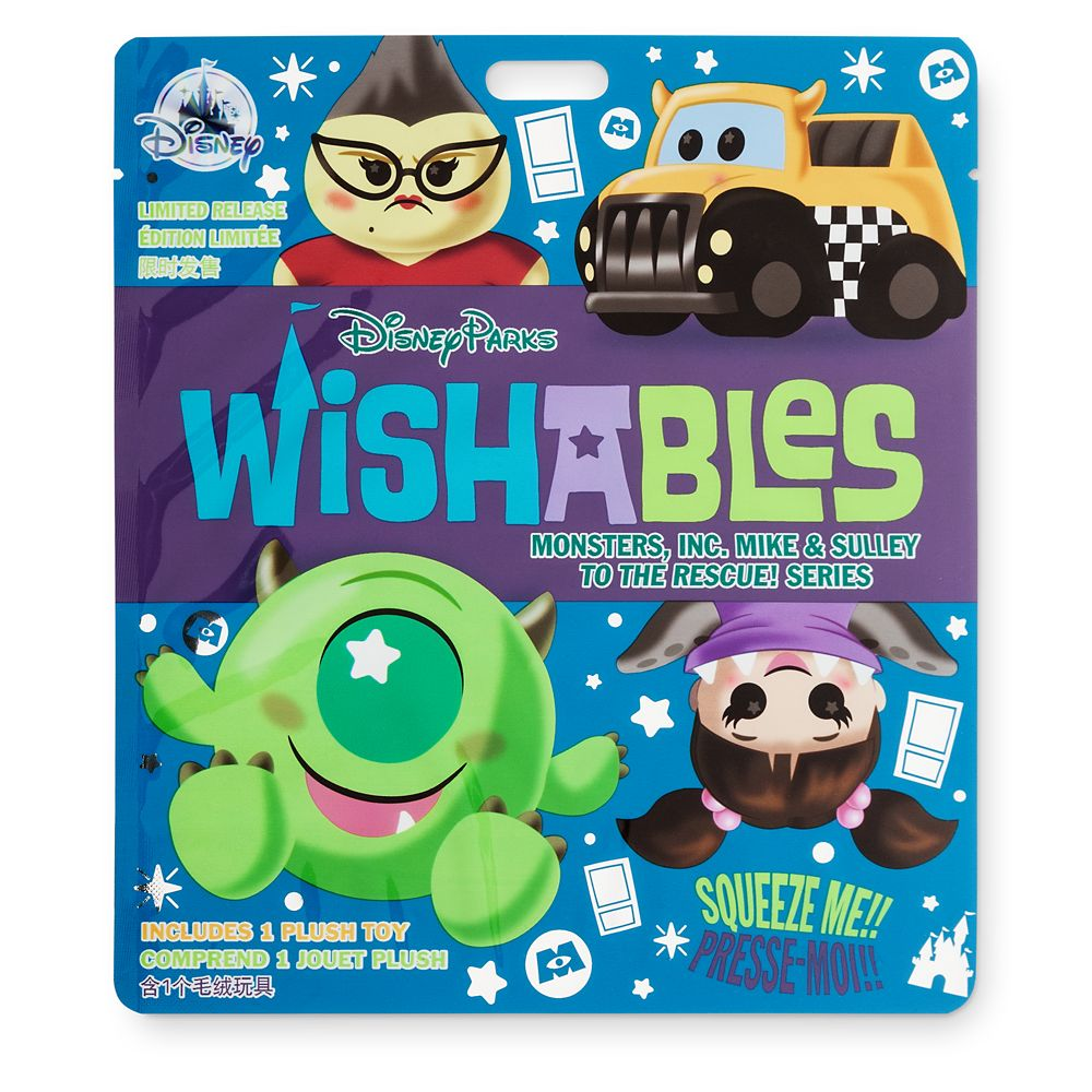 Disney Parks Wishables Mystery Plush – Monsters, Inc. Mike & Sulley to the Rescue Series – Micro – Limited Release