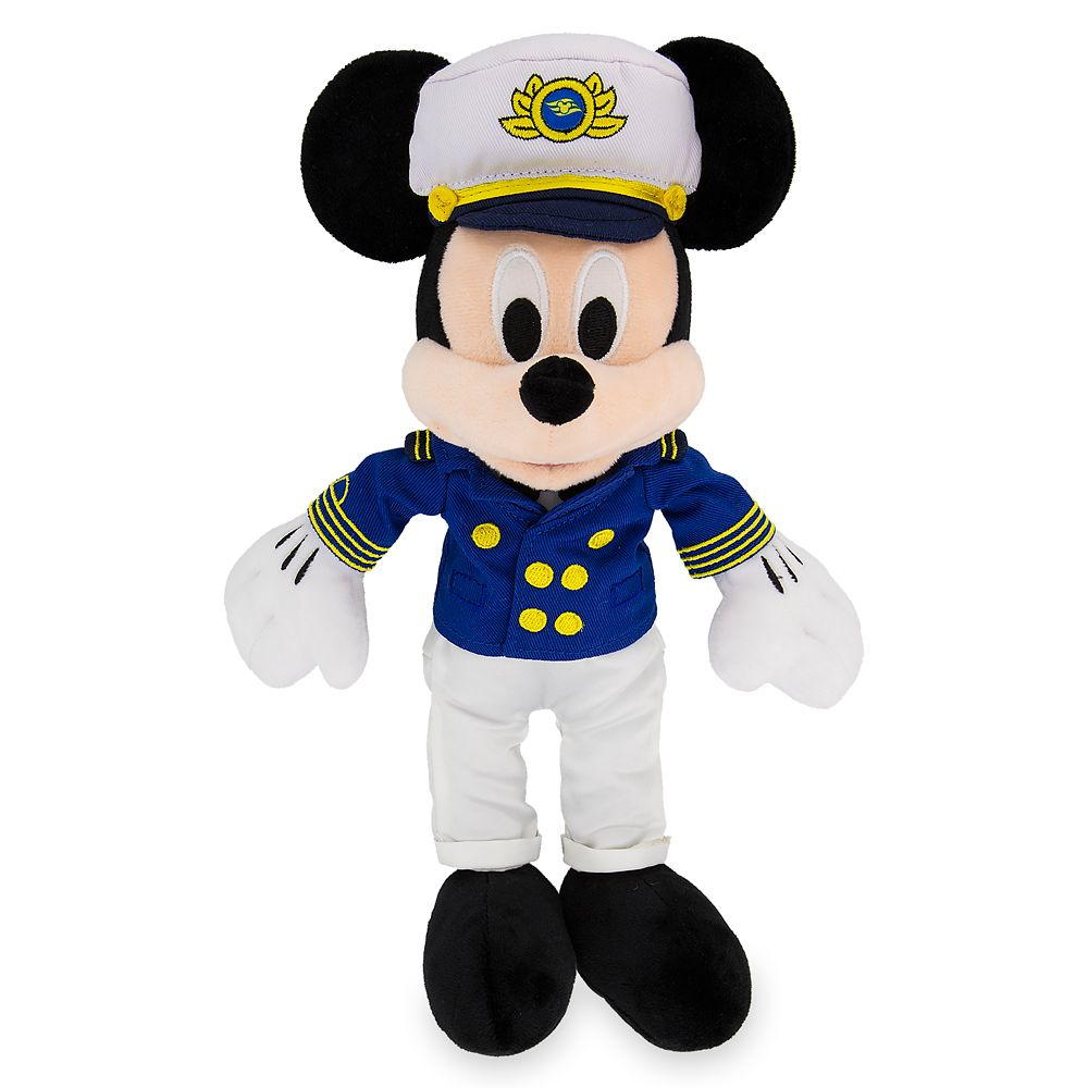 Captain Mickey Mouse Plush  Disney Cruise Line  11''