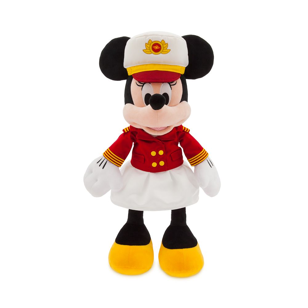 Captain Minnie Mouse Plush  Disney Cruise Line  Medium  18''