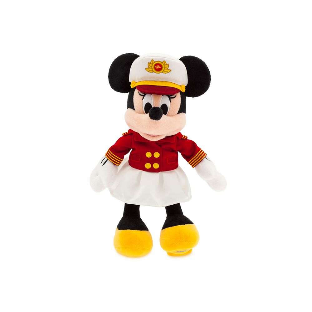 Captain Minnie Mouse Plush  Disney Cruise Line  Small  11''