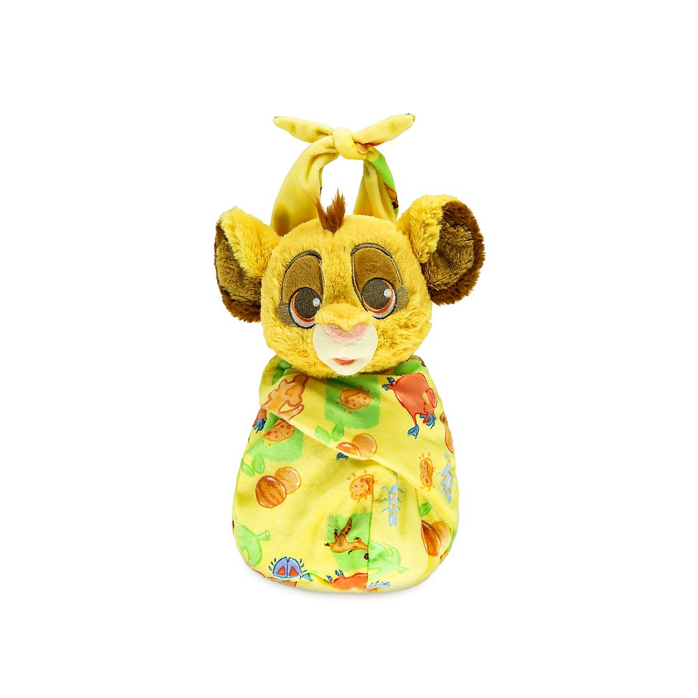 Disney Babies Simba Plush Doll in Pouch – The Lion King – Small – 10''
