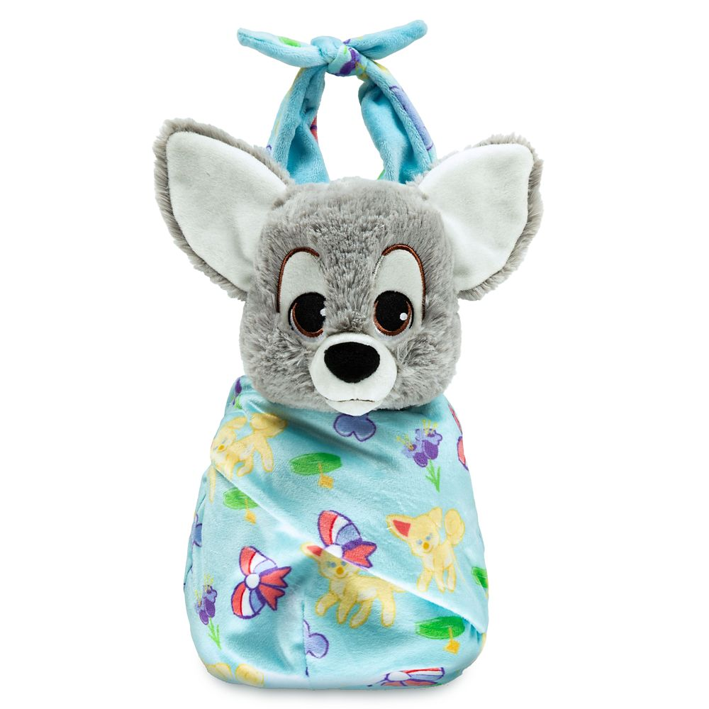 Disney Babies Scamp Plush Doll in Pouch – Lady and the Tramp – Small – 10''