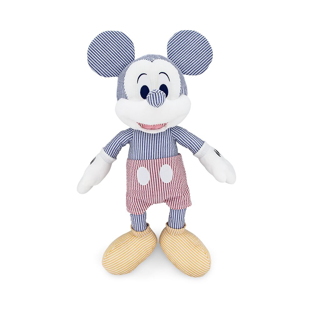 Mickey Mouse Seersucker Plush – Medium – 18 1/2''