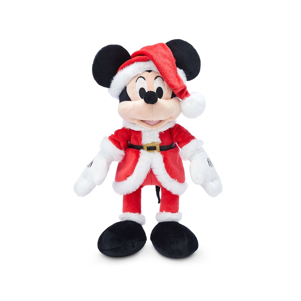 Santa Mickey Mouse Plush – Medium 11''