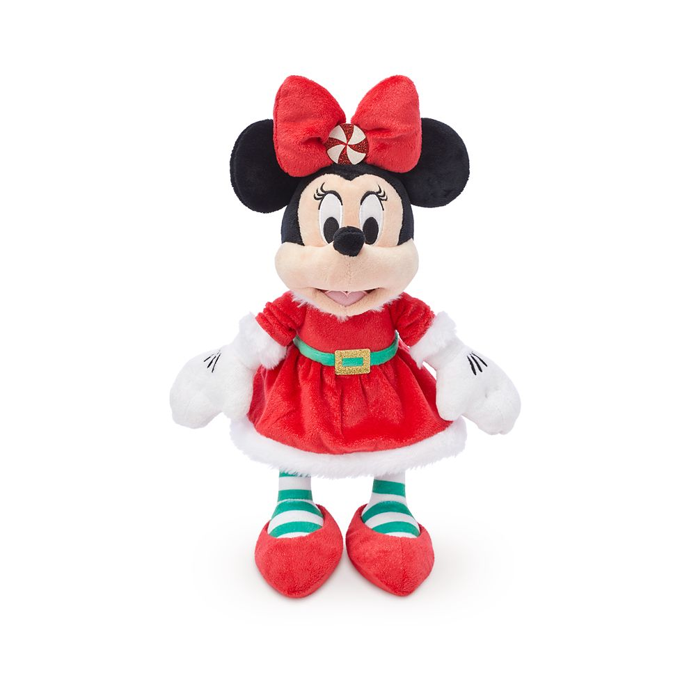 Santa Minnie Mouse Plush – Medium 11''