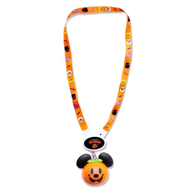 Mickey Mouse Pumpkin Halloween Light-Up Lanyard