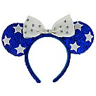 Minnie Mouse Ears Headband - Blue and White