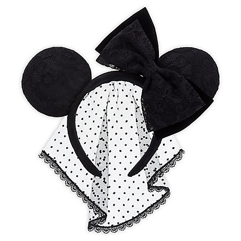 Minnie Mouse Ear Headband - Lace Veil