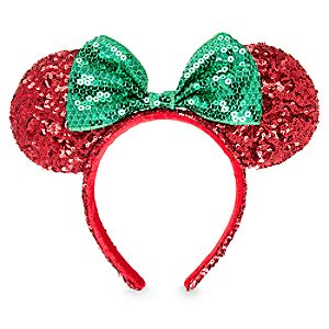 Minnie Mouse Sequined Holiday Ear Headband
