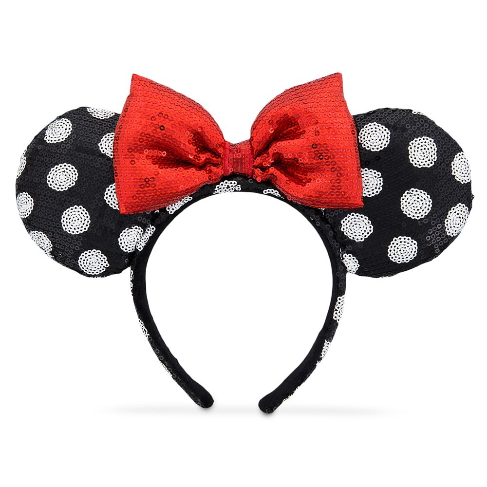 Minnie Mouse Ear Headband – Black and White
