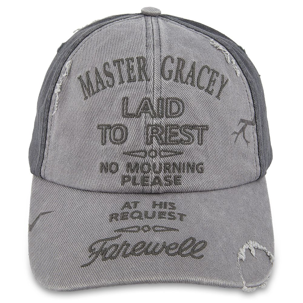 Haunted Mansion Master Gracey Tombstone Baseball Hat for Adults