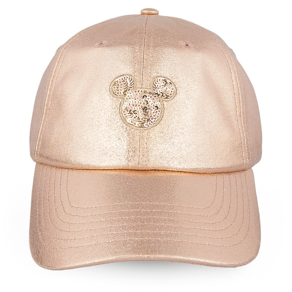 Mickey Mouse Rose Gold Baseball Cap for Women Official shopDisney