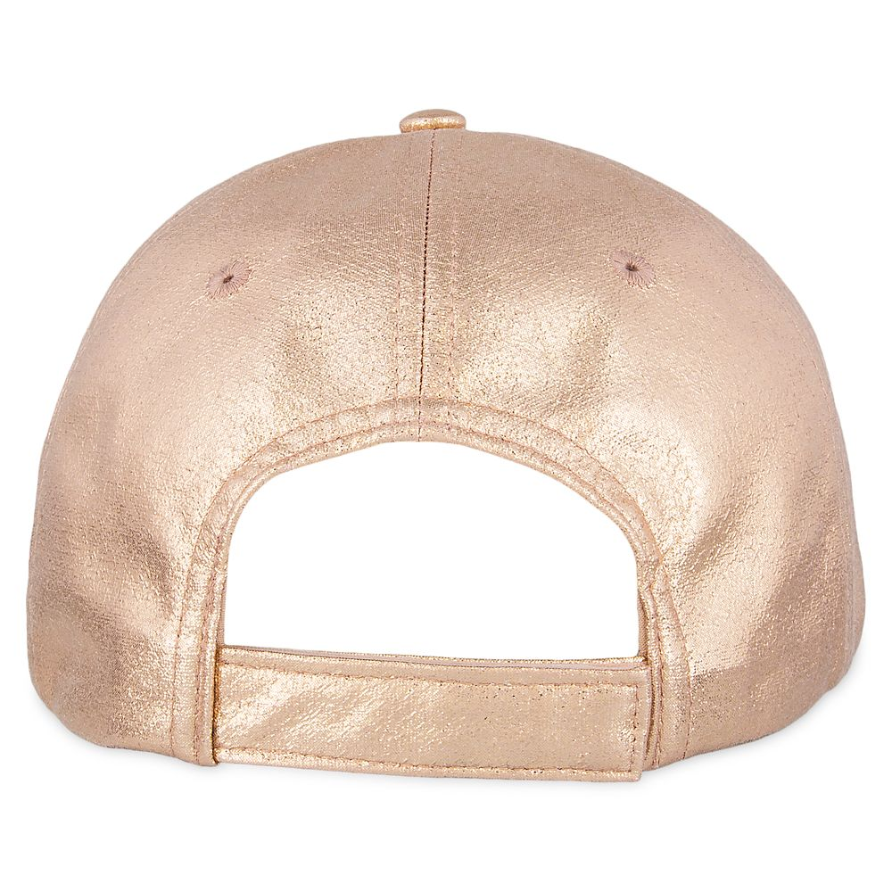 Mickey Mouse Rose Gold Baseball Cap for Women