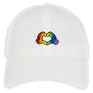 Rainbow Disney Collection Mickey Mouse Heart Hands Baseball Cap for Adults - White