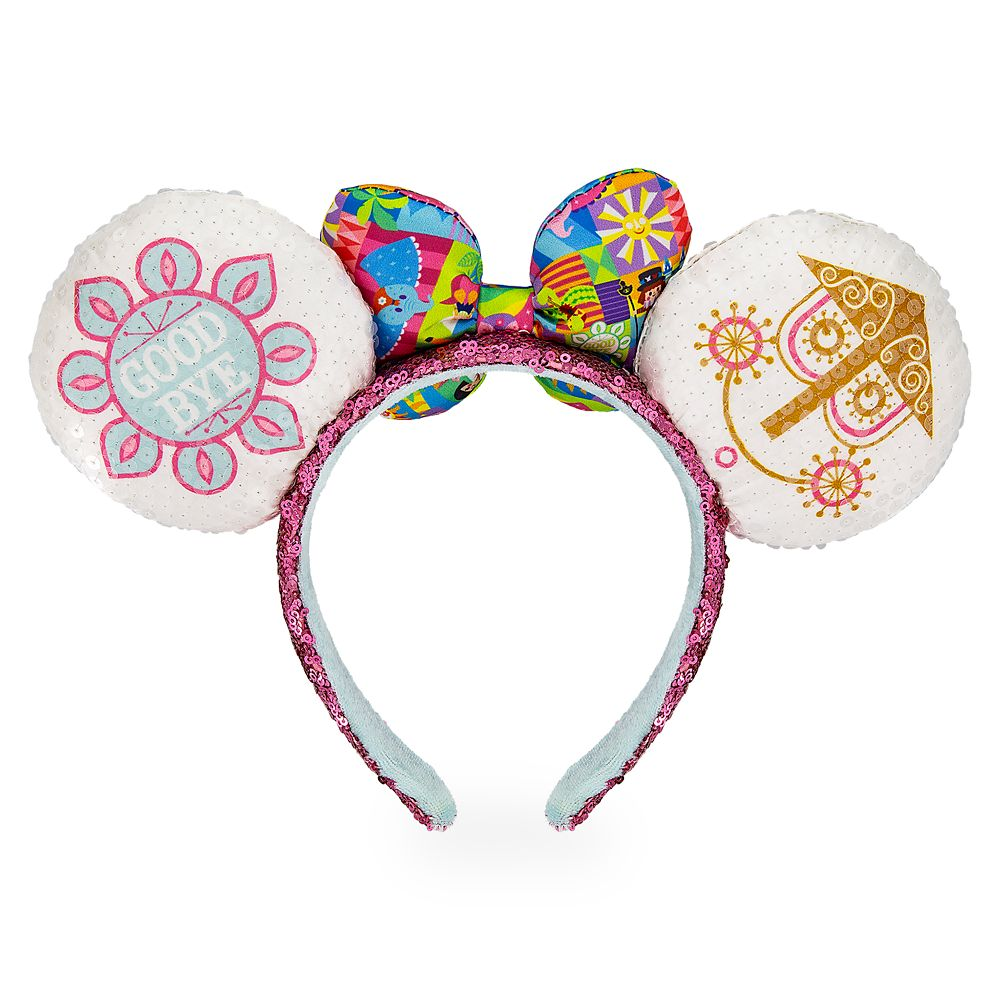 Minnie Mouse Sequined Ear Headband with Satin Bow – Disney it's a small world