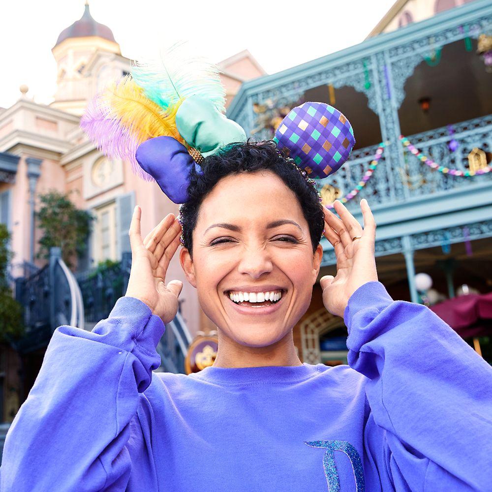 Minnie Mouse Mardi Gras Ears Headband