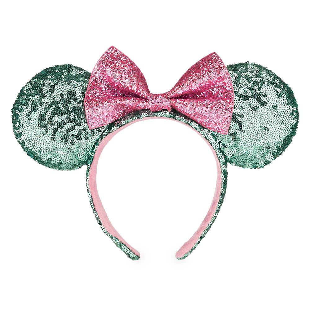 Minnie Mouse Ear Headband – Mint and Pink Sequins