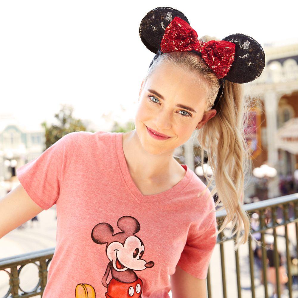Minnie Mouse Sequin Ear Headband