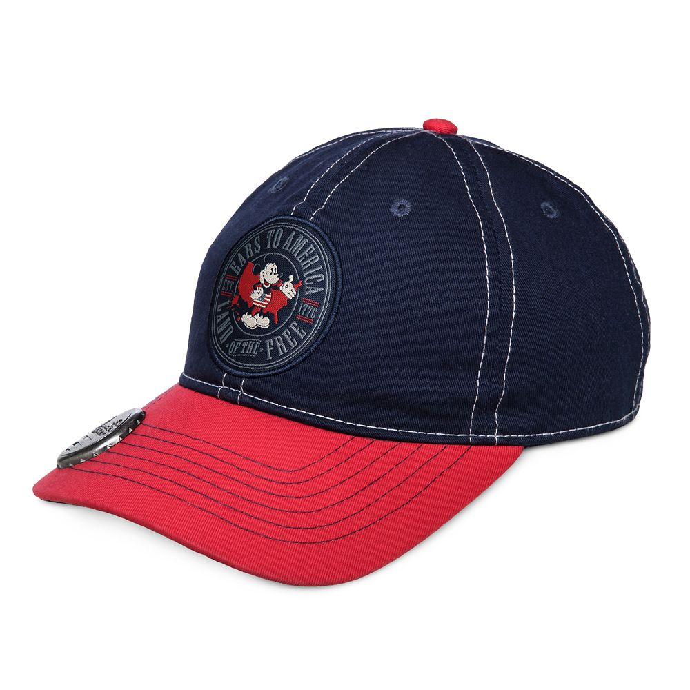 Mickey Mouse Americana Baseball Cap with Bottle Opener for Adults – Walt Disney World