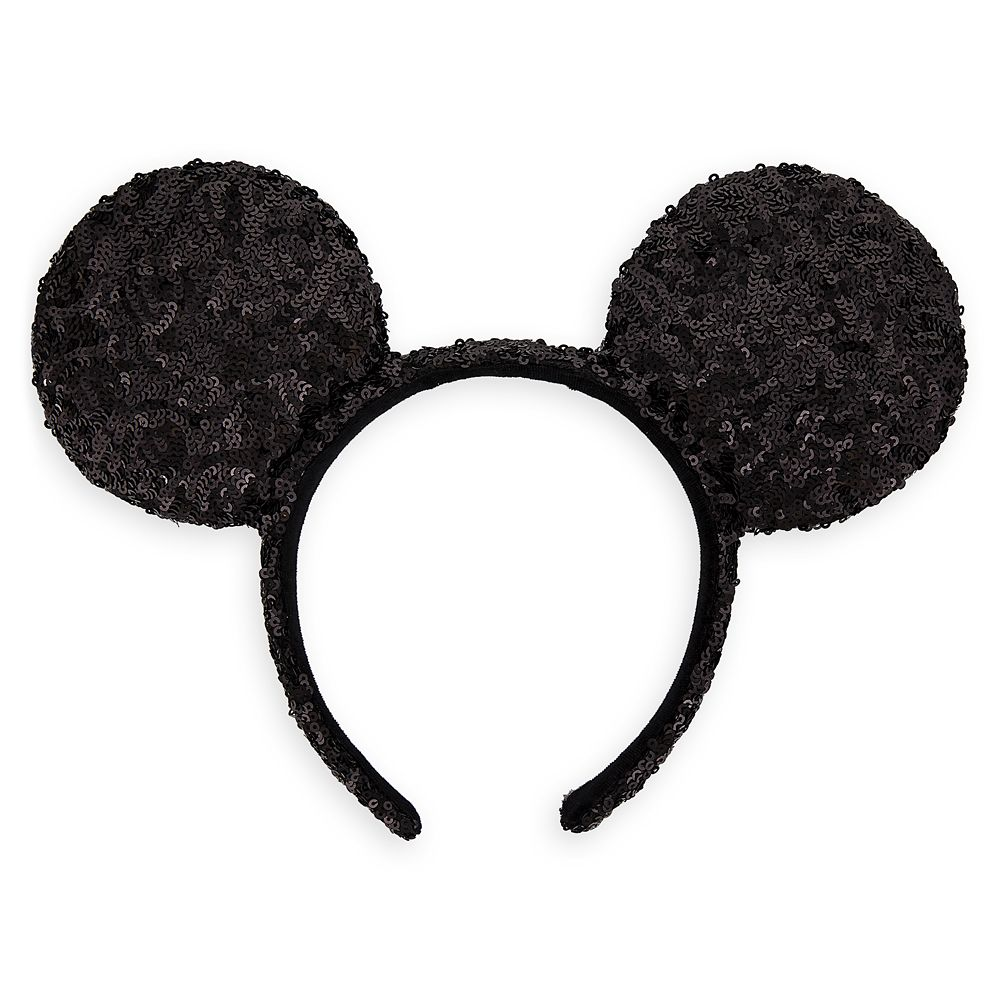 Mickey Mouse Ear Sequin Headband for Adults
