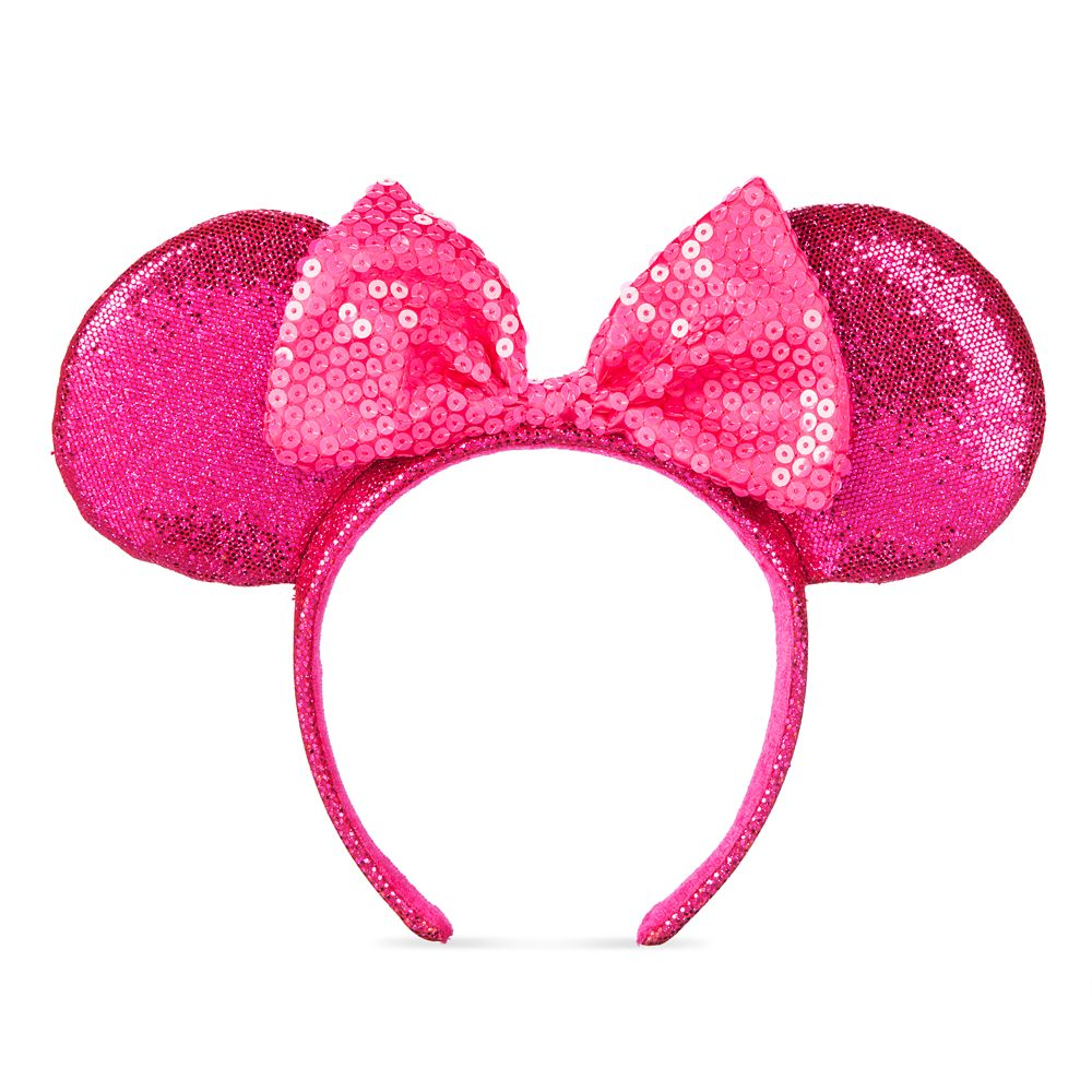 Minnie Mouse Glitter and Sequin Ear Headband – Imagination Pink