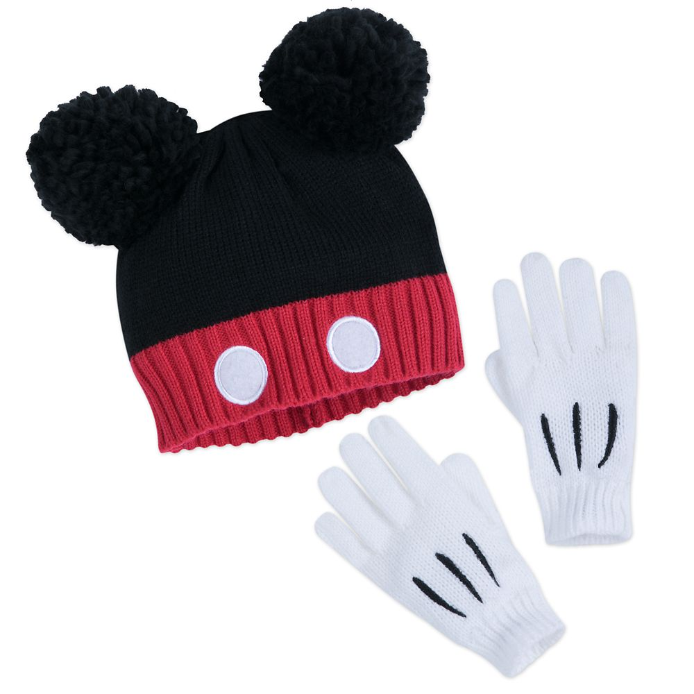 Mickey Mouse Hat and Glove Set for Kids