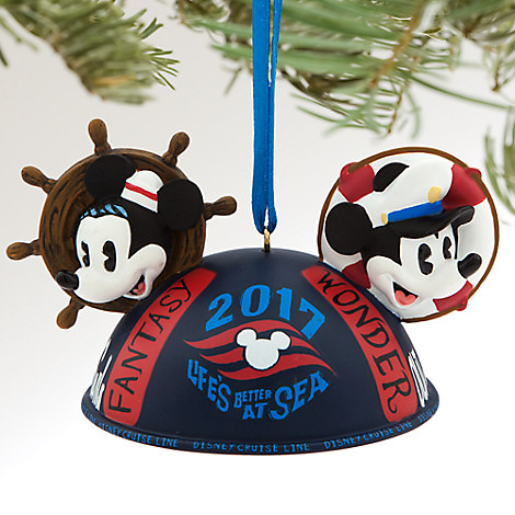 Mickey and Minnie Mouse Ear Hat Ornament - Disney Cruise Line 2017