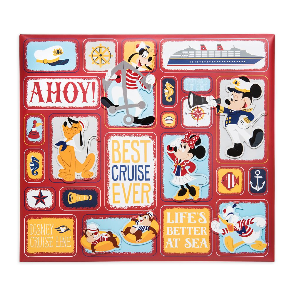 Mickey Mouse and Friends Disney Cruise Line Scrapbook  12'' x 12''
